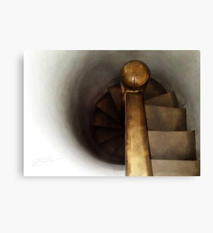 Historic Church Stair Case Canvas Print