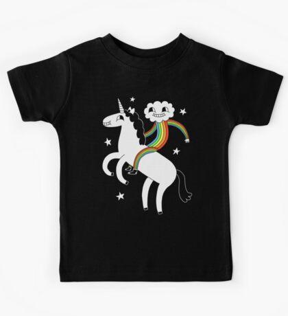 Unicorn & Rainbow Boy Kids Tee