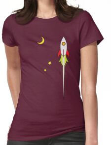 Ad Astra Retro Futurism  Womens Fitted T-Shirt