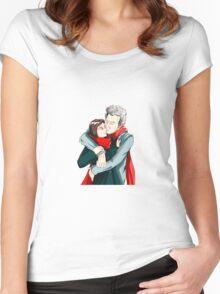 twelve & clara - hug Women's Fitted Scoop T-Shirt