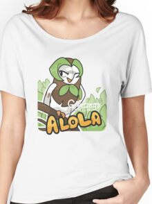 Greetings from Alola ft. Dartrix - Pokémon Sun and Moon Women's Relaxed Fit T-Shirt