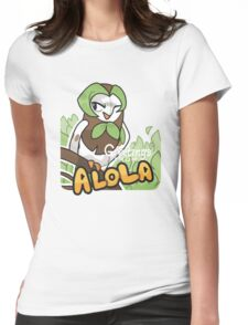 Greetings from Alola ft. Dartrix - Pokémon Sun and Moon Womens Fitted T-Shirt