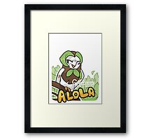 Greetings from Alola ft. Dartrix - Pokémon Sun and Moon Framed Print