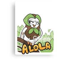 Greetings from Alola ft. Dartrix - Pokémon Sun and Moon Canvas Print