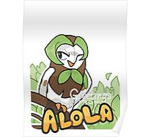 Greetings from Alola ft. Dartrix - Pokémon Sun and Moon Poster