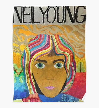 Neil Young Pastel  Poster