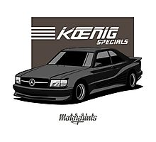 Koenig Mercedes-Benz 560 SEC (C126) (black) Photographic Print