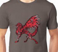 Flame Wolf - Black Unisex T-Shirt