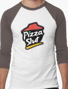 Pizza slut logo Men's Baseball ¾ T-Shirt