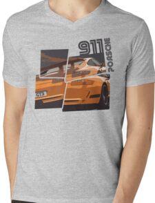 NEW Men's Racing Car T-Shirt Mens V-Neck T-Shirt