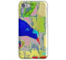 Blue Bird and insect. iPhone Case/Skin