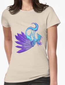 Playful Dragon Womens Fitted T-Shirt