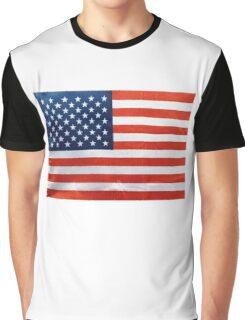 American Flag RED WHITE & BLUE Graphic T-Shirt