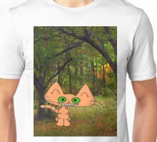 Cat Enjoys A Fall Day Unisex T-Shirt
