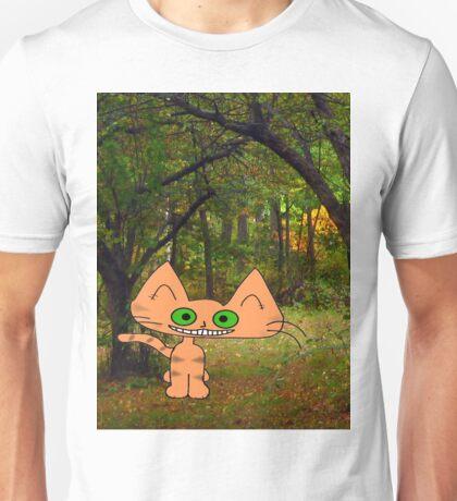 Cat Enjoys A Fall Day Unisex T-Shirt