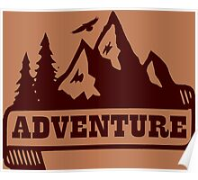 Adventure - Brown Poster