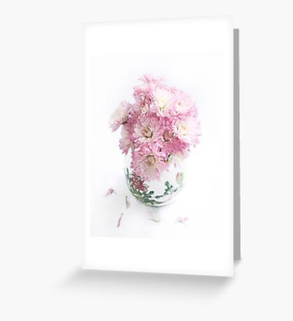Pretty Pink Mums Still Life Greeting Card