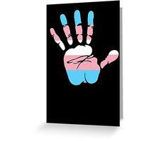 Trans* Handprint Greeting Card