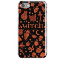 WITCH orange elements iPhone Case/Skin