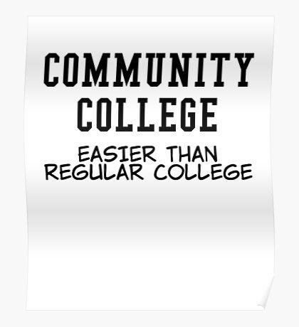 community college black Poster