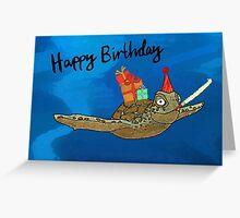 Birthday Turtle Greeting Card