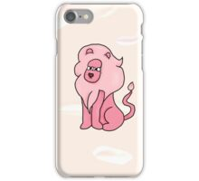 Lion With a Butterfly (mane background) iPhone Case/Skin