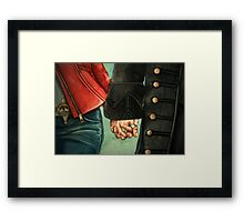 Need a Hand, Love? Framed Print