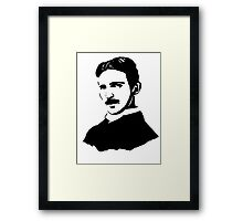 Nikola Tesla Stencil Framed Print