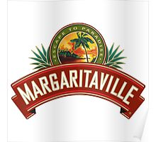 best margaritaville escape to paradise logo covers farwson Poster