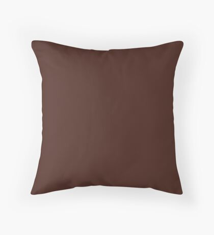 Crevice Dark Earthy Brown- Barren Western Desert Badlands Clay Canyons Throw Pillow