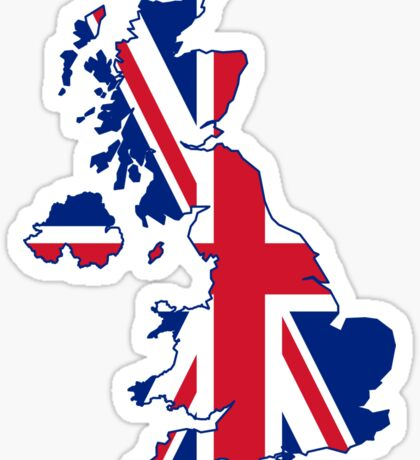 UK Flag Map Sticker