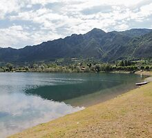 beautiful landscape lake by spetenfia