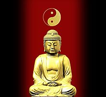 Buddha and Yin Yang red iPhone / iPod cases by Steve Crompton