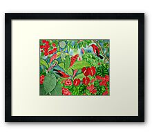 Red Iiwi Garden Framed Print