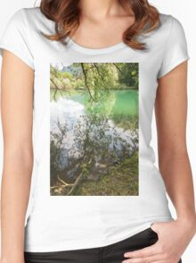 lake scape Women's Fitted Scoop T-Shirt