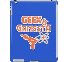 Geek & Gangsta - Nerdy Retro Science Fiction Humor iPad Case/Skin