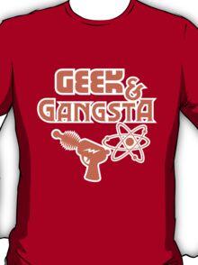 Geek & Gangsta - Nerdy Retro Science Fiction Humor T-Shirt