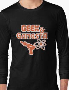 Geek & Gangsta - Nerdy Retro Science Fiction Humor Long Sleeve T-Shirt