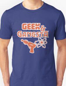 Geek & Gangsta - Nerdy Retro Science Fiction Humor Unisex T-Shirt