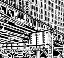 Chicago EL Maze Sticker