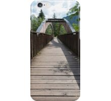 wooden bridge on the lake iPhone Case/Skin