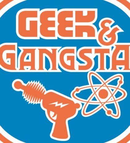 Geek & Gangsta Nerdy Atom Symbol & Ray Gun Sticker