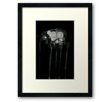 0121 - Brush and Ink - Kiss Kiss Framed Print