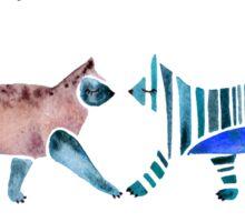 Cat Collection – Blue & Brown Palette Sticker