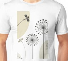 Dragonfly on a flower Unisex T-Shirt