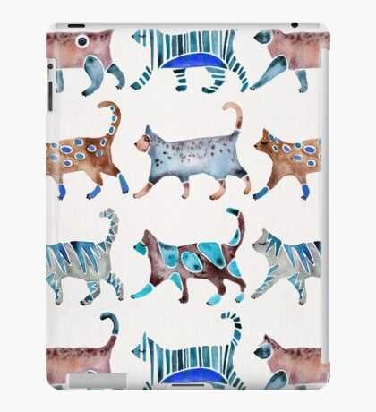 Cat Collection – Blue & Brown Palette iPad Case/Skin