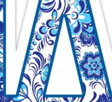 LA Dodgers Pattern Sticker