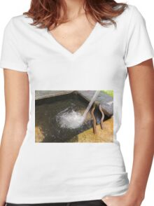 old fountain Women's Fitted V-Neck T-Shirt