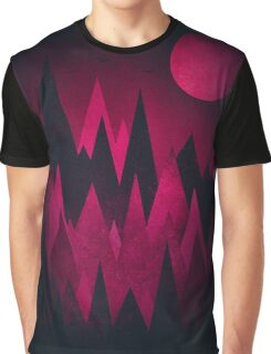 Dark Triangles (Peak Woods) Abstract Grunge Mountains Design (red/black) Graphic T-Shirt
