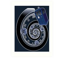 The Twelfth Doctor - time spiral Art Print